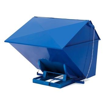 Kontener wywrotka, z pokrywą PILE, 2500 L, niebieski