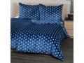4Home Pościel mikroflanela Stars niebieski, 160 x 200 cm, 2x 70 x 80 cm Bawełna syntetyczna tkanina aksamit Plusz skóra Rozmiar(poprawny) 160x200 cm