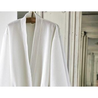 Szlafrok bawełniany Blanc Des Vosges Manoir Blanc