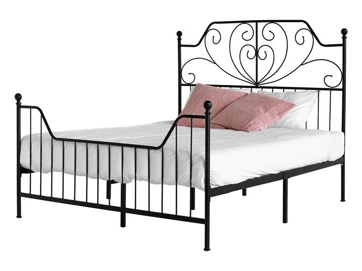 łóżko Metalowe Brambor 140x200 Czarne