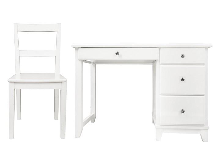 Ogromny Biurko z krzesłem Devon 4 szuflady kol. biały - Biurka - zdjęcia DV42