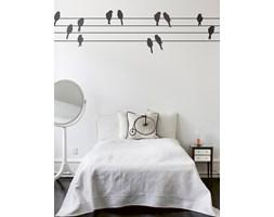 Naklejka ścienna - Ptaki na drucie
