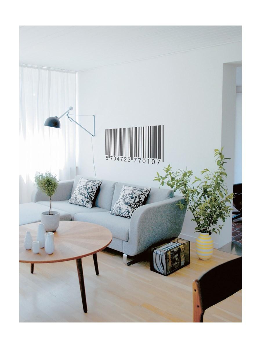 naklejki cienne kod kreskowy naklejki zdj cia. Black Bedroom Furniture Sets. Home Design Ideas