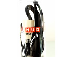 Lampa NUD - Czarny sznur z czarną oprawką