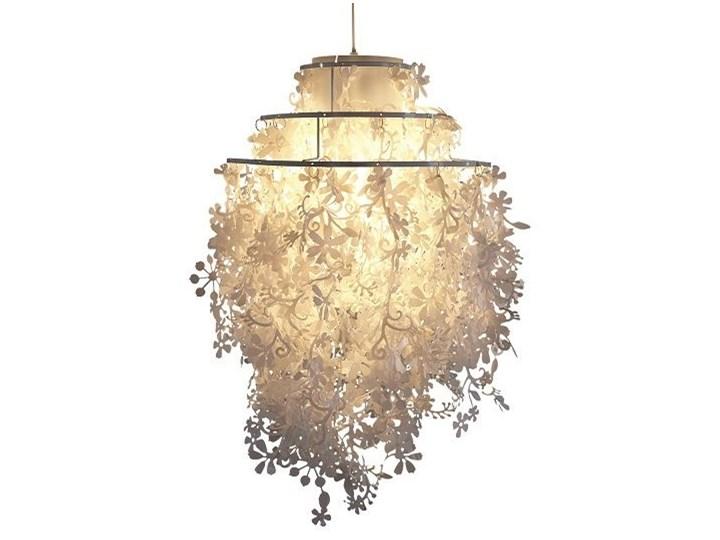 Lampa Wisząca Sufitowa Biała Nowoczesna Nylon Lampy Wiszące