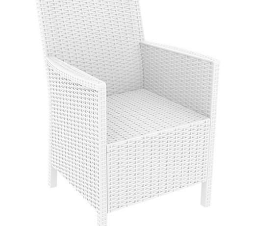 Fotel Ogrodowy Do Restauracji Technorattan Biały Krzesła