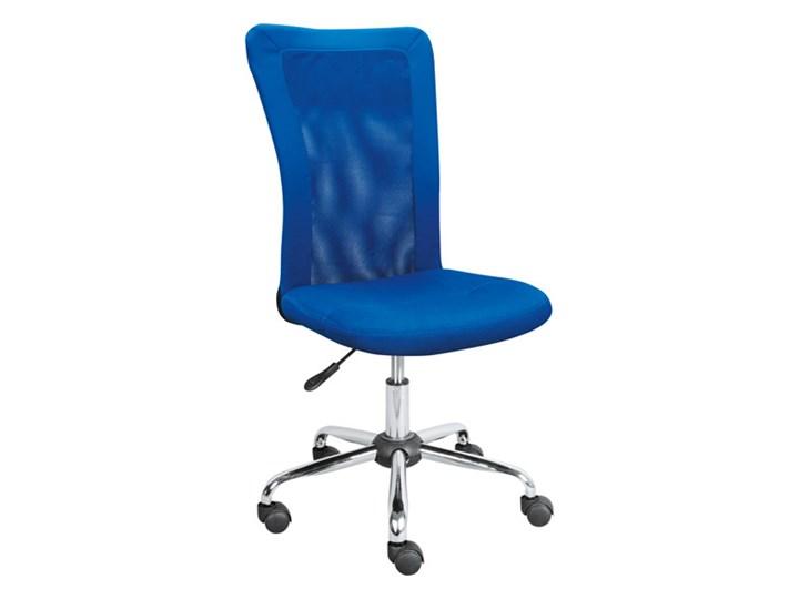 Fotel Obrotowy Q122 Niebieski Black Red White Krzesła Do Biurka
