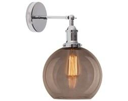 Industrialna LAMPA ścienna NEW YORK LOFT NO. 2 SCH LA035/W_ smoky_chrom Altavola szklana OPRAWA kula ball KINKIET przydymiony