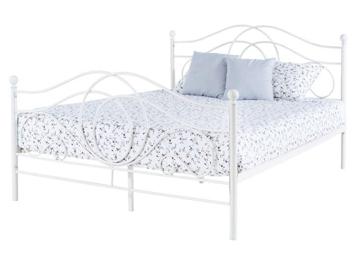 łóżko Metalowe Alice 140x200 Białe