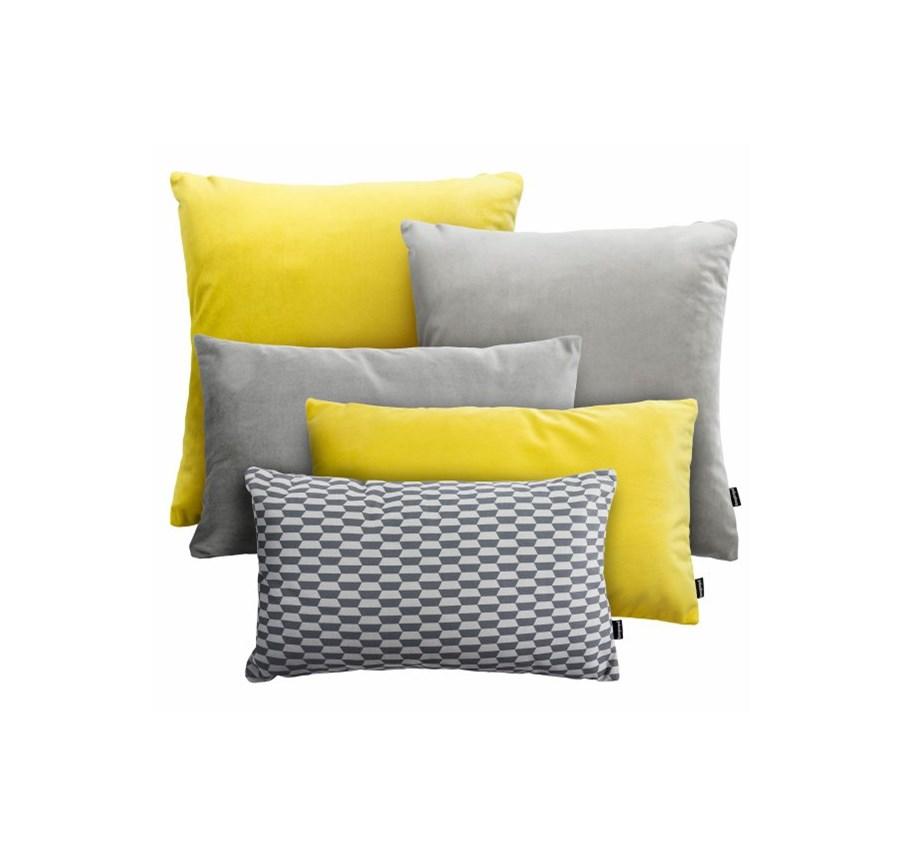 żółto Szary Zestaw Velvet Break Poduszki Dekoracyjne Zdjęcia