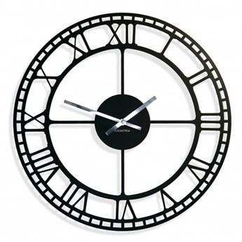 Metalowy zegar ścienny retro czarny 50cm