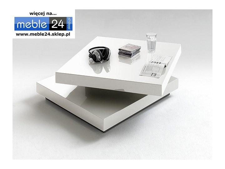 Biały stolik kawowy SQUARE 75/30 cm Styl nowoczesny