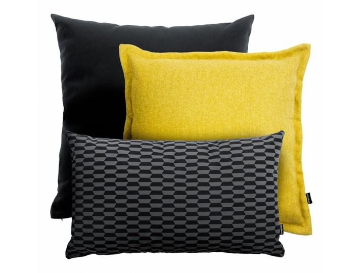 Żółto czarny zestaw poduszek Pram+Break+Tweed Kwadratowe 30x50 cm 45x45 cm tkanina aksamit Styl klasyczny