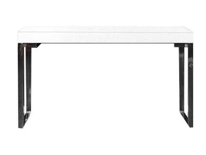 Biurko Markos, I 120x60, białe Szerokość 120 cm Styl nowoczesny Metal Głębokość 60 cm Biurko konsola Styl Glamour