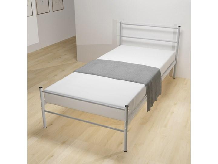 Vidaxl Rama łóżka Szara Metalowa 90 X 200 Cm