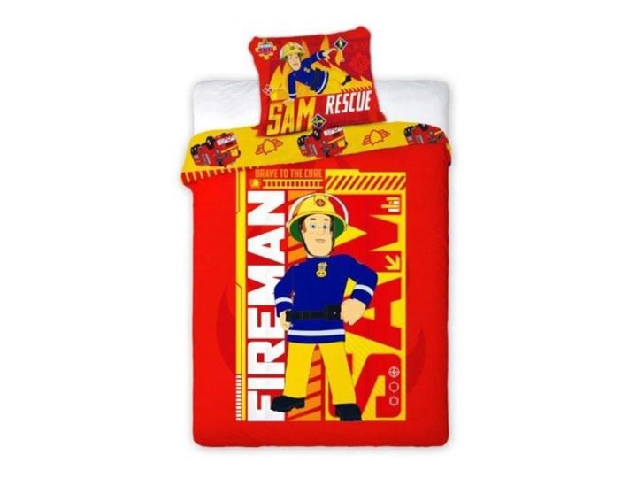 Pościel Bawełniana 140x200 Strażak Sam 8552 Straż Pożarna Fireman