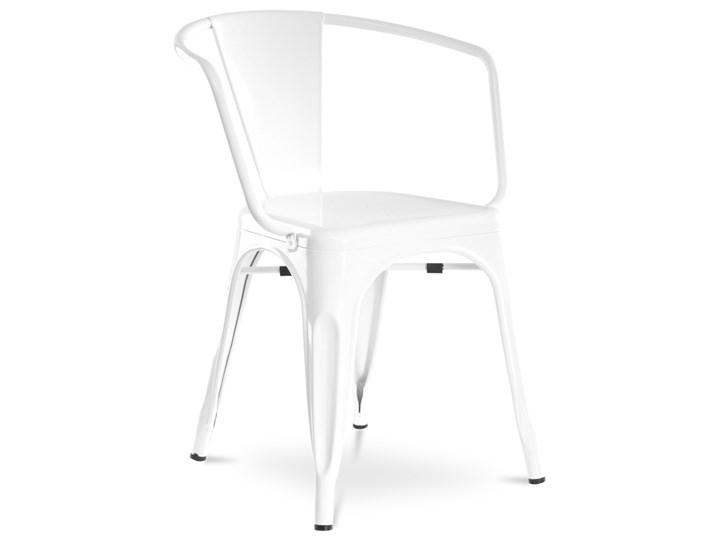 Metalowe Krzesło Claudio Białe Meblownia Meble I Akcesoria Meblowe