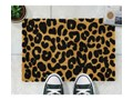 Wycieraczka z naturalnego włókna kokosowego Artsy Doormats Leopard, 40x60 cm Włókno kokosowe Kolor Beżowy Kategoria Wycieraczki
