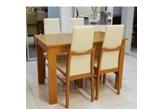 4 szt. krzesło TOP firmy BRW + stół 70/110-140