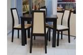 Zestaw Black Red White Largo 4 krzesła + stół 70 x 110 cm
