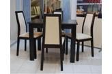 Zestaw Black Red White Largo PKRS 4 krzesła + stół 90 x 70 cm