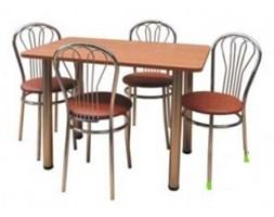 Zestaw kuchenny stół 100 x 65 cm + 2 krzesła Tulipan