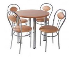 Zestaw kuchenny stół 80 cm koło noga prosta + 4 krzesła Tiziano