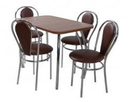 Zestaw kuchenny stół prostokąt noga prosta Dacota 100 x 65 cm + 2 krzesła Tulipan Plus