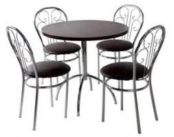 Zestaw kuchenny stół Wiktor 80 cm + 4 krzesła Cezar