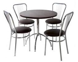 Zestaw kuchenny stół Wiktor 80 cm + 4 krzesła Vega