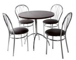 Zestaw kuchenny stół Wiktor 80 cm + 4 krzesła Venus