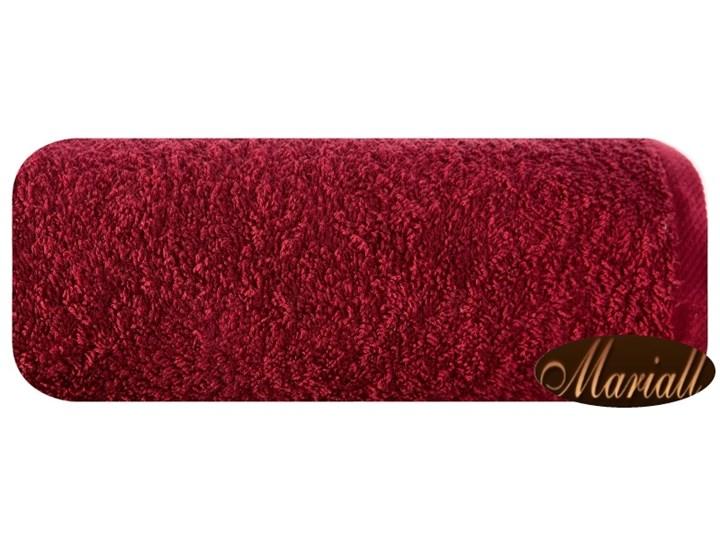 Ręcznik bawełniany gładki bordowy R46