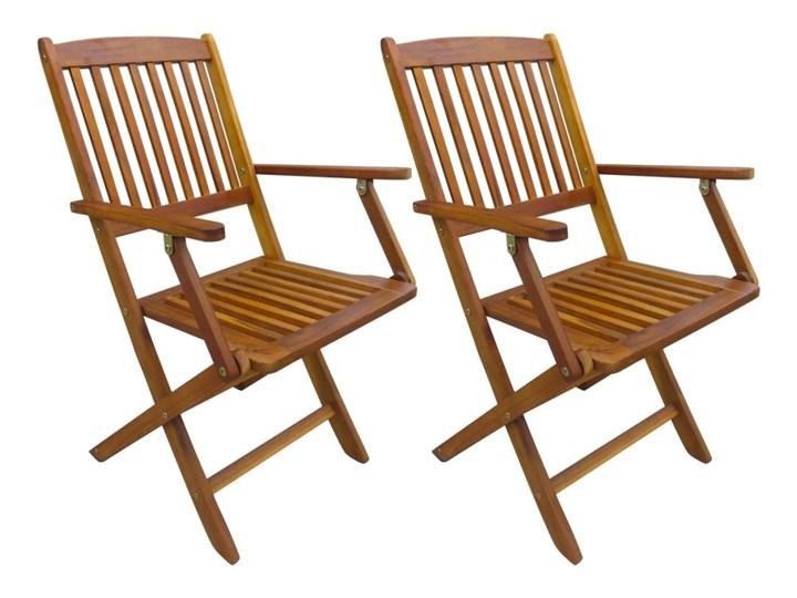 Vidaxl Składane Krzesła Ogrodowe Z Drewna Akacjowego 2 Szt