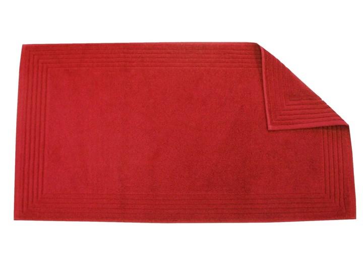 Mata łazienkowa Blanc Des Vosges UNI Czerwona Bawełna Prostokątny 50x90 cm tkanina Styl klasyczny