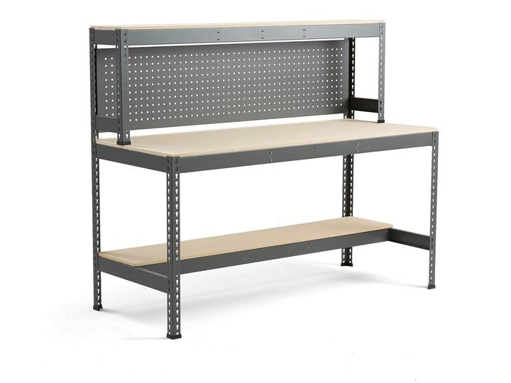 Stół warsztatowy COMBO, z panelem narzędziowym i oświetleniem, 1840x775x1530 mm