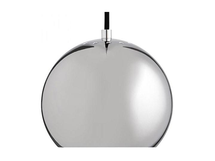 Lampa Wisząca Ball V srebrna z czarnym przewodem