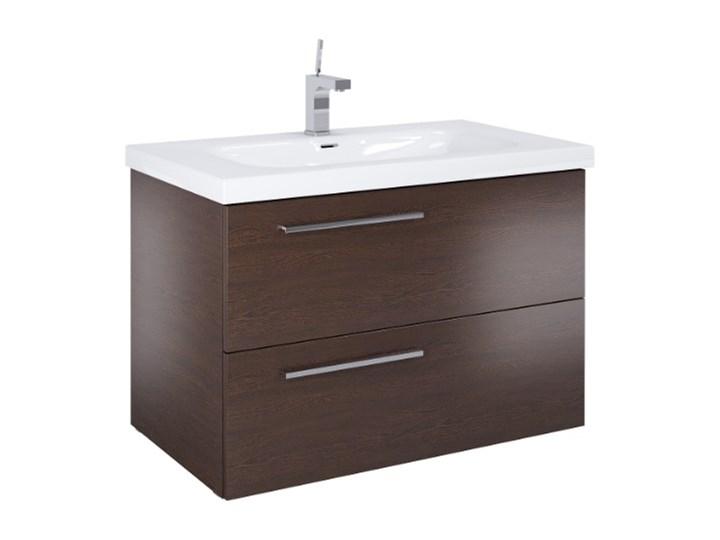 Szafka łazienkowa Z Umywalką 90 Cm Marsylia Wenge Szafki Z
