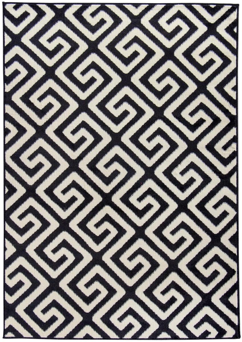Dywan labirynt czarny biały geometryczny 80x150 dywany zdjęcia pomysły inspiracje homebook