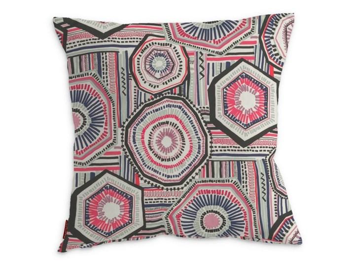 Dekoria Poszewka Kinga na poduszkę, etniczne czerwonp-niebiesko-czarne wzory na kremowym tle, 43 × 43 cm, New Art