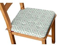 Dekoria Siedzisko Olek na krzesło, szaro- miętowe romby na białym tle, 42 × 41 × 3,5 cm, Geometric