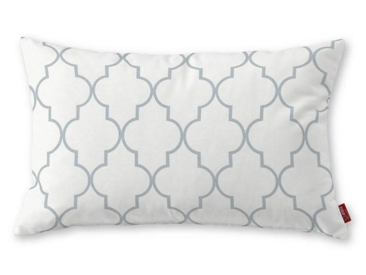 Dekoria Poszewka Kinga na poduszkę prostokątną, szaro-białe wzory marokańskie, 60 × 40 cm, Comics