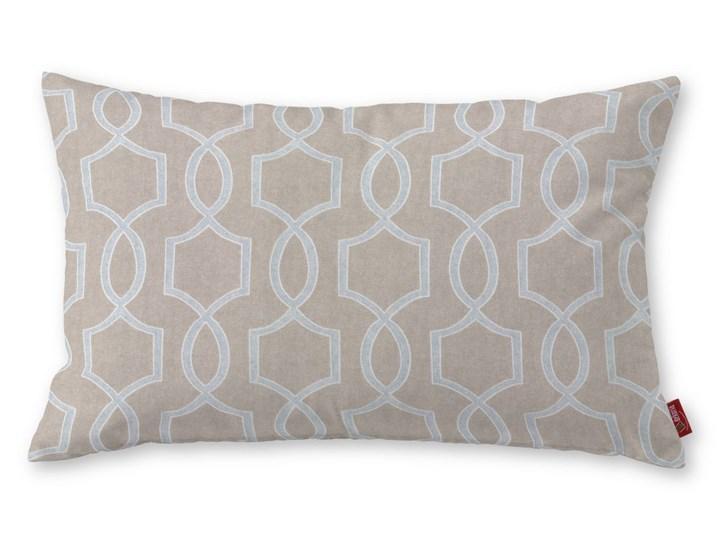 Dekoria Poszewka Kinga na poduszkę prostokątną, beżowy w szary marokański wzór, 60 × 40 cm, Comics