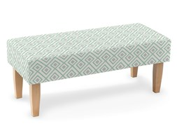 Dekoria Ławka, szaro- miętowe romby na białym tle, 100 × 40 × 40 cm, Geometric