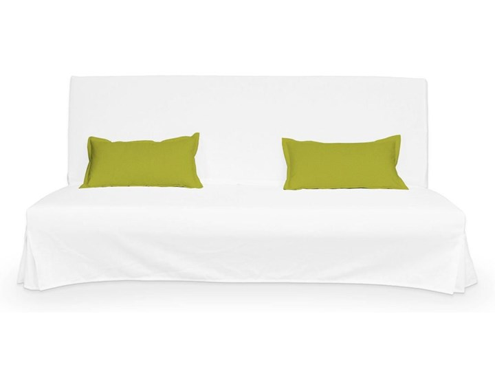 Dekoria 2 poszewki niepikowane na poduszki Beddinge, limonka, poduszki Beddinge, Etna