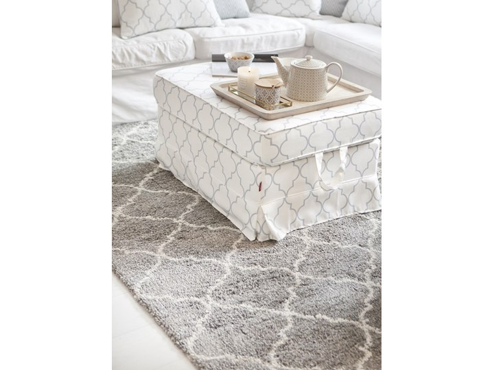 Dekoria Dywan Royal Marocco light grey/cream 67x130cm, 67x130cm Prostokątne Syntetyk Styl vintage Dywany Rozmiar 4 67x130 cm