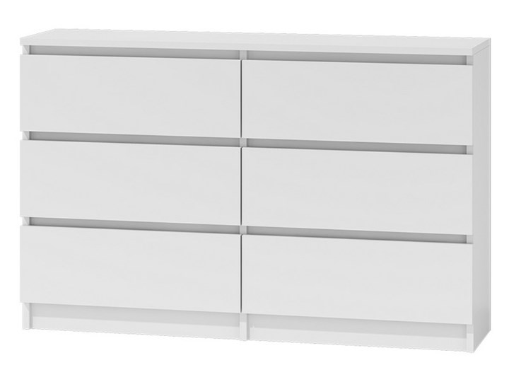 Komoda 6 szuflad CLINO 120 cm Głębokość 30 cm Drewno Z szufladami Wysokość 77 cm Szerokość 125 cm Styl Nowoczesny