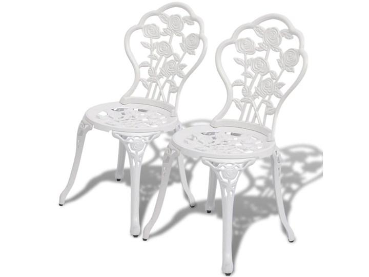 Vidaxl Krzesła Bistro 2 Szt Odlewane Aluminium Białe