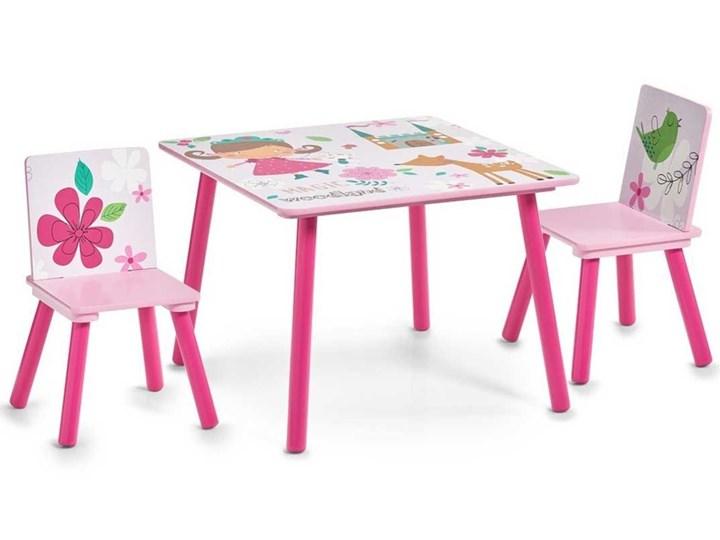 Stolik dziecięcy GIRLY + 2 krzesełka, ZELLER Styl nowoczesny płyta MDF Styl safari
