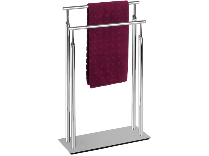 Łazienkowy stojak na ręczniki LISBOA - 2 ramienny, WENKO Metal Podwójny kamień Wieszaki na ręczniki Wolnostojący Styl klasyczny