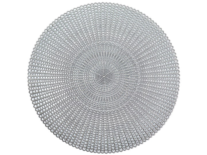 Podkładka ochronna, dekoracyjna mata na stół - kolor srebrny, Ø 41 cm, ZELLER podkładka pod talerz Styl klasyczny